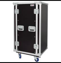 CR224BLKMW Rack doboz, 24U, kerekekkel
