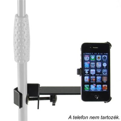 IPH-04 iPhone 4 tartó, mikrofon állványhoz rögzíthető