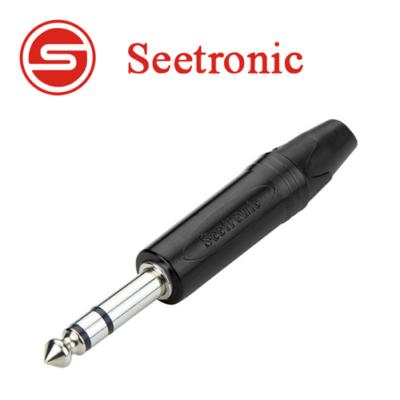 SP3X-B Sztereo 6,3 jack dugó (fekete)