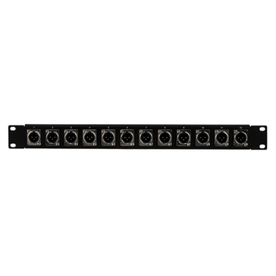 PB002 Patch panel (12 x XLR papa, 1U)
