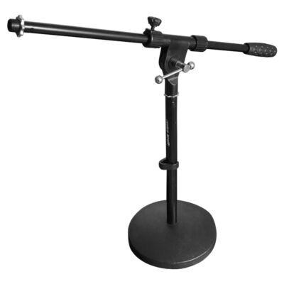 MS023 Gémes mikrofonállvány, kőrtalpas, alacsony