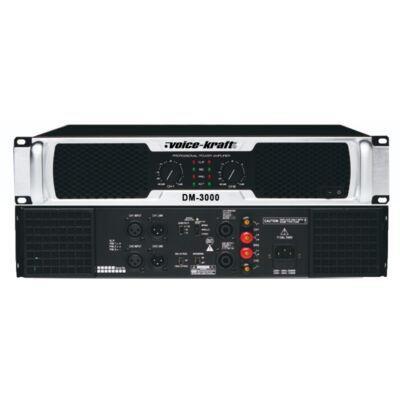 DM-3000 Végerősítő 2x500W/4Ohm