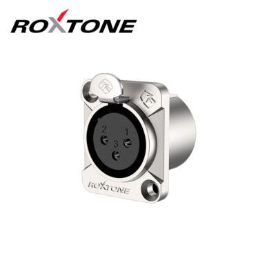 RX3FD-NT XLR mama, szerelhető, 3 pólusú, (ezüst)